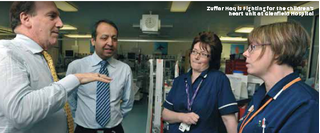Zuffar Haq & Simon Hughes campaigning for our NHS