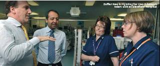 Zuffar Haq & Simon Hughes campaigning for our NHS